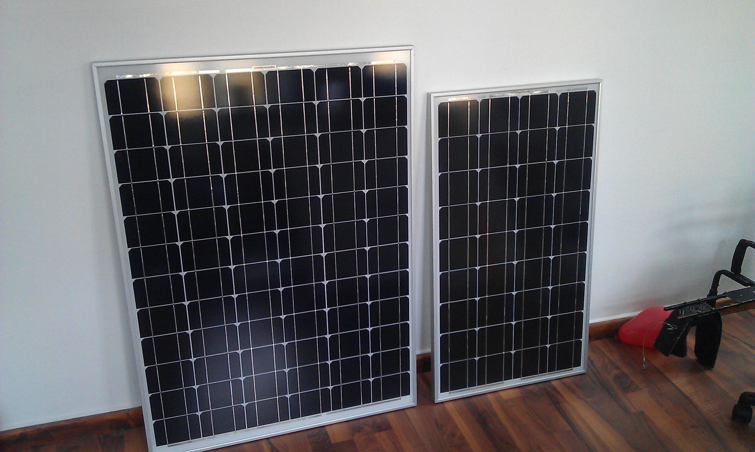 Solarpanels eingetroffen