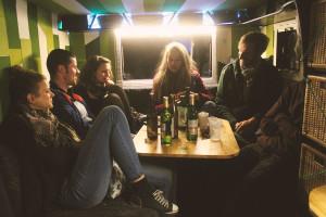 Abschiedsparty im Bus
